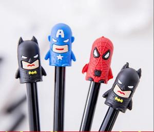 tinta preta Suprimentos caneta escritório Eexamination Escritório Escola gel de banda desenhada Marvel Super Hero Batman // Superman Student Pen