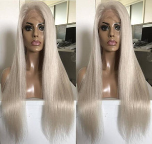 Celebrity Wigs Lace Front Wig #60 Blonde Silky Straight 10A Grade Vietnamese Virgin Human Hair Full Lace Wigs for Woman Fast Free Shipping