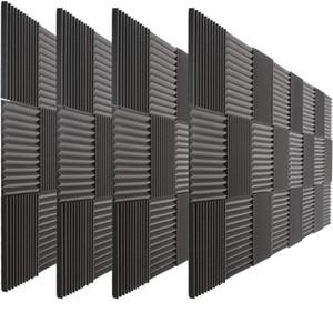 """(72 حزمة) الصوتية رغوة إسفين عازلة للصوت المسرح المنزلي امتصاص تسجيل استوديو صوتي معالجة الصوت الإسفنج ستريت لوحات 12x12x1 """""""