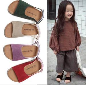 Crianças Cork Chinelos sandálias meninos flip-flops sandálias frescos Fashion Shoes Sandálias Meninas Summer Beach antiderrapante Chinelos Calçado AYP5681