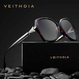 Veithdia Retro Bayan Güneş Gözlükleri Polarize Lüks Kristal Bayanlar Kadınlar Için Marka Tasarımcı Güneş Gözlüğü Gözlük Kadın V3027 Y19052001
