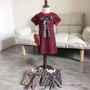 2020 Tatlı Ve Taze Çocuk Konfeksiyon Tide Versiyon Dantel Elbise Moda Klasik Kız Yuvarlak Yaka Kazak Prenses Kek Etek 1216
