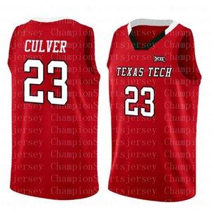 NCAA 23 Jarrett Culver Koleji forması kaliteli nakış dikiş