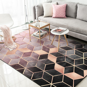 Nordic Modern Minimalist Geometric Pattern Carpet Living Room Coffee Table Room Bedroom Floor Rug Mat Kids Room Crawling Mat