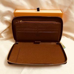 Lujo Organizador Zippy Organizador cartera De cremallera larga cartera Mono Gram Canvers de cuero libre del envío Precio al por mayor M60002