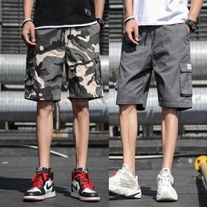 US-Stock-M-7XL Vintage Shorts Männer kühlen Tarnung Sommer-heiße Verkaufs-Baumwollmann-kurze Hosen Kleidung Bequeme Camo Cargo-Shorts FY9107