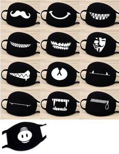 Toz geçirmez Ağız Yüz Maskesi Kadınlar Erkekler Pamuk Anime Çizgi Şanslı Ayı Yüz Ağız Maskeleri DHL HH9-2982