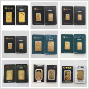 1 Oz Perth Mint Argor Hereaus RCM Apmex Gold Bar placcato 24 k Placcato Oro NON magnetico lingotti D'oro regali di Festa Decorazioni Per La Casa Artigianato