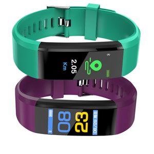 Smart Wearing Bracelet Sport Pedometer IP67 Waterproof Color Screen Smart Watch with Blood Pressure Heart Rate 5 Colors