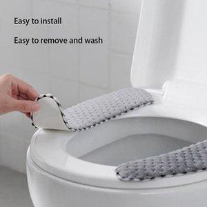Hogar cálido invierno pegajosa Toilet Seat Cushion lavable reutilizable caliente suave Cubiertas asiento del inodoro Asientos para inodoros