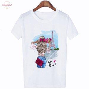 Women Clothes 2020 Summer Fashion Thin Section T Shirt Love Grom Paris Harajuku Kawaii Female T Shirt Leisure Tshirt Top