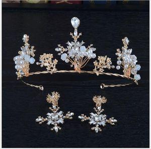 Handmade Crystal Beads Birthday Headwear Hair Hoop Crown Baroque Hair Ornament