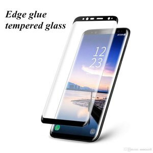 For Samsung S6 S7 S8 S9 Plus Edge Note 8 9 Edge Glue 3D Curved Screen Protector Anti Scratch Tempered Glass With Paper Retail Package