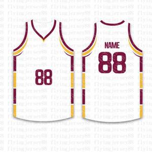 Top Custom Basketball Jerseys para hombre Bordado Logos Jersey Envío gratis Barato al por mayor Cualquier nombre cualquier número Tamaño S-XXL wsgsd5