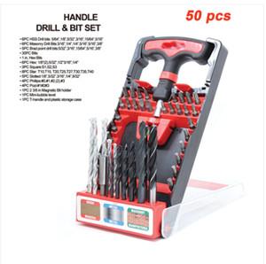 En gros !!! Livraison gratuite TOOLMAN 50 pcs Outil à main compact T-Handle Drill + Bit set