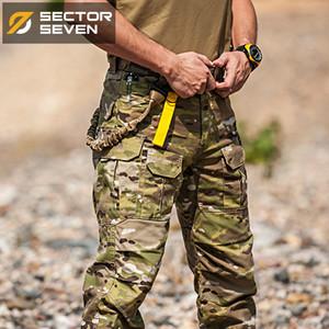 Sector Sete camuflagem Waterproof calças táticas Guerra Jogo de carga calças dos homens calças Exército Calças ativos militar CX200628