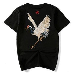 İnsanın pamuk işlemeli tişörtler, Yaz kısa kollu Tops, moda Sokak hip hop Tees, Çin gündelik tarzı giyim, R1M810TS-13