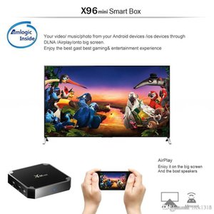 DHL X96 Mini Android 7.1 Amlogic S905W STB tv box 1GB + 8GB 2GB + 16GB eMMC Flash KD KDplayer 17.6 4K Smart Android TV Box VS TX3 MXQ PRO