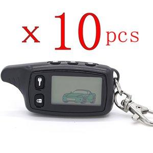10 Adet / Parti TW9010 LCD Uzaktan Kumanda Anahtar Fobfor Rus Versiyon Tomahawk TW9010 2 Yönlü Oto Alarm Sistemi Tomahawk TW 9010