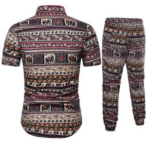 Camisetas para hombres Camisetas + Pantalones Sets de dos piezas Conjuntos de trajes étnicos de manga corta Moda de verano Ropa para hombre Casual Impresión masculina 5xl