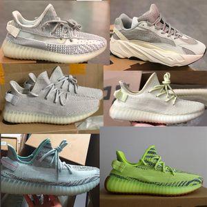Baskets réfléchissantes au beurre statiques pour femmes, homme, teinté bleu, congelés, créateur Beluga 2.0 (chaussures zébrées grises), chaussure Kanye west