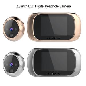 2.8 인치 LCD 컬러 화면 디지털 초인종 90도 문 눈 초인종 전자 들여다 보는 구멍 도어 카메라 뷰어 야외 도어 벨