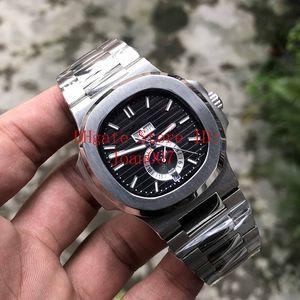 Роскошные часы Мужчины PP Nautilus 5726 / 1A-001 Механические Автоматические Мужские Часы фазы Луны Часы из нержавеющей стали наручные часы