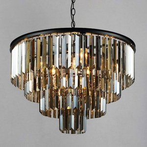 New Style Crystal Chandelier Lighting Fixture Luxury Large Crystal Lustres de cristal Living Room Pendant Lamp