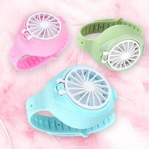Portable USB mini ventilatore ricarica Watch-Shape Folding Fan Fan ricaricabile con comodi da regalo cinturino da polso estivo per bambini