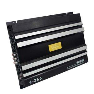 Çift bas çıkışı yükseltici amplifikatörü Araç ses hoparlör yükselticisi V12 4 kanallı yüksek güç