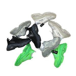 Balèncìaga SS20 Triple S air sole clear sole Beige calfskin lambskin and mesh Dad Shoes Platform Vintage Kanye Old Grandpa Trainer