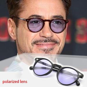 Vazrobe polarizada óculos de sol dos homens luz matiz lente óculos de sol redondos do vintage para o homem dirigindo steampunk retro eyewear pequena face