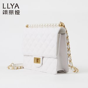Charm2019 Genuine Leather Pearl Trend Único Ombro Mulher Bag