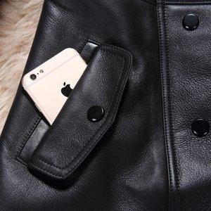 Natural Fur Coat Female Vintage 100% Wool Fur Liner Genuine Leather Jacket Women Korean Double Faced Tops Sheepskin Coat LW2705