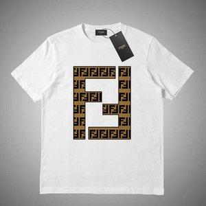 FENDI Sommer-Frauen-T-Shirts der Männer Brief Tops gedruckt T Shirt der Männer Kleidung Marken-Kurzschluss-Hülsen-Shirt Frauen Tops S-2XL # 52156