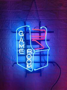 نيو ستار النيون مصنع لعبة Room17x14 بوصة ريال زجاج ضوء النيون لالبيرة بار حانة كراج غرفة العودة إلى مركز الألعاب.