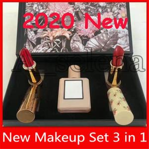 2020 Новый макияж Парфюм губная помада 3 в 1 Bloom Perfume долговечны и с веществом мерцающий комплект помады подарочной коробке Christamas дар