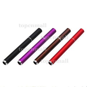 Cigarette Shape Smoking Pipes Aluminium Alloy Metal Pipes 100pcs Box 78mm Length One Hitter Bat Smoking Free Shipping