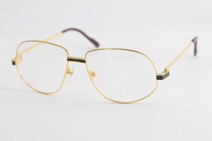 الشحن مجانا موضة الذهب عالية الجودة نظارات رجالي العين ساحة كبيرة نظارات نظارات النساء الرجال مع صندوق C الديكور إطار نظارات الذهب