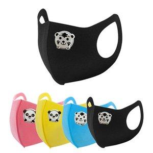 Moda Buz İpek panda kaplan Lüks Çocuk Boy Kız Karikatür Tasarımcı Nefes valf maske Çocuk Anti-Dust Yıkanabilir pamuklu Yeniden kullanılabilir Maskeler