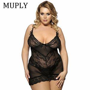 MUPLY Plus Size 3XL 5XL 7XL Frauen Sexy Dessous Heiße Große Code Sexy Unterwäsche Prinzessin hochwertige Pyjamas Erotische Dessous D18120802