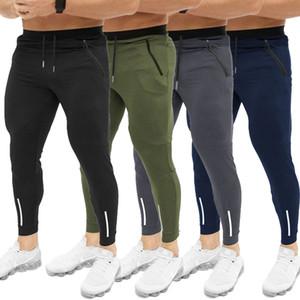 Pantalons Hommes Gym Slim Fit Survêtement Bottoms Skinny Joggers Sweat Pantalons athlétiques