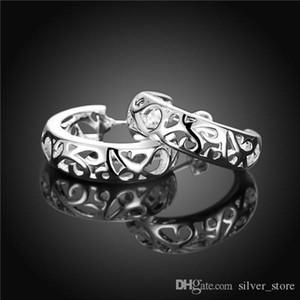 Brand new sterling silver plated Pierced earrings semicircle DFMSE630,women's 925 silver Dangle Chandelier earrings 10 pair a lot