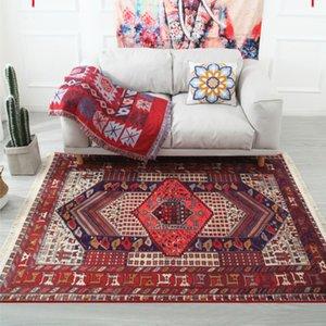 Morocco Nordic Geometric Striped Tassels Carpets for Fiving Room Area Rugs  Anti-slip Bedroom Carpet Kids Room Floor Rug