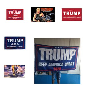 New 150*90cm 2020 Trump Banner Presidential Campaign Flags 6 Styles Campaign Posters Keep America Great Banner T3I5823