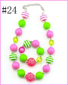 free shipping 6set Baby Necklace Baby Girl Bead bracelet Children Necklace Girl Chunky Jewelry Little