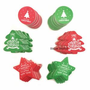 100PCS di Natale fai da te multi stile della carta kraft Tag Handmade / Thank You Forniture fai da te Crafts Hang Tag Gift Wrapping Etichette per i favori di Natale