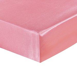 Cubierta Encasement rosada suave de poliéster colchón Encasement cubierta inofensivo no tóxico impermeable y transpirable colchón con 4 tamaños