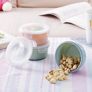도매 라운드 미니 냉장고 Crisper 고체 식품 상자 라운드 Crisper 냉장고 플라스틱 식품 보관 상자 주방 도구 DH1201