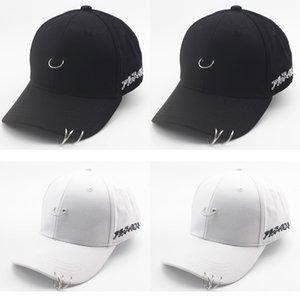GD children's three iron rings sunscreen cap men's and Sunscreen baseball cap women's street hip-hop baseball hat parent-child hat
